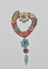 Heart Tile XXI by Lilia Venier (Ceramic Sculpture)