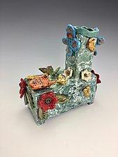 Butterfly Vase by Lilia Venier (Ceramic Vase)