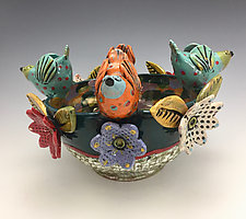 Spring Celebration by Lilia Venier (Ceramic Bowl)