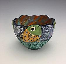 Feeding Time by Lilia Venier (Ceramic Bowl)