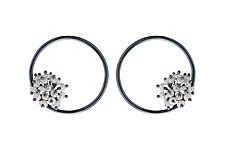 Large Adva Pearl Hoops by Michelle Pajak-Reynolds (Silver & Pearl Earrings)
