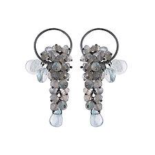 Pelagia Earrings by Michelle Pajak-Reynolds (Silver & Stone Earrings)
