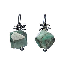 Nagisa Drop Earrings by Michelle Pajak-Reynolds (Silver & Stone Earrings)