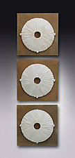 Sea Urchins by Kevin Lubbers (Art Glass Wall Sculpture)