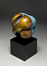 Bound, Variation on a Theme 1 by Jan Hoy (Bronze & Ceramic Sculpture)