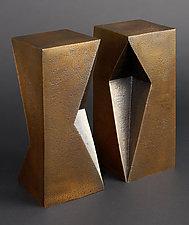 Diamond Totem by Jan Hoy (Metal Sculpture)