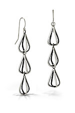 Tri-Bulb Earrings by Emily Shaffer (Silver Earrings)