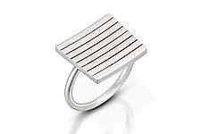 Stacked Ring by Emily Shaffer (Silver Ring)