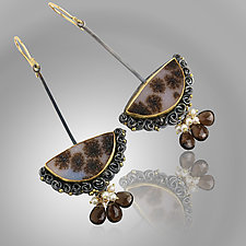 Druzy and Dendrites Earrings by Wendy Stauffer (Gold, Silver & Stone Earrings)
