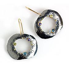 Blue Topaz and Peridot Pebble Dangle Earrings by Wendy Stauffer (Gold, Silver & Sonte Earrings)