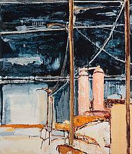 Blast Furnace Number 1 by Meghan Wilbar (Oil Painting)