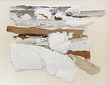 Prairie Study 3 by Meghan Wilbar (Mixed-Media Wall Hanging)