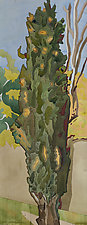 Cypress Two by Meredith Nemirov (Watercolor Painting)