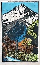 On Forest Road 642 by Meredith Nemirov (Woodcut Print)
