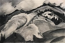 Drawing Mountains by Meredith Nemirov (Charcoal Drawing)
