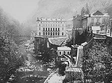 Village Pyreneese by William Lemke (Black & White Photograph)
