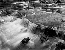 Gorge #1 - Ithaca, NY by William Lemke (Black & White Photograph)