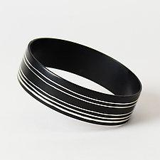 Stripe Off Center Wide Bangle by Priya Himatsingka (Jewelry Bracelets)