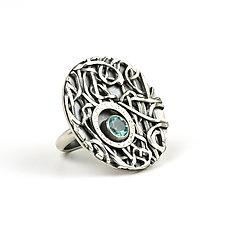 Tangle Lattice Gemstone Ring by Janet Blake (Silver & Stone Ring)