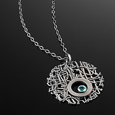Tangle Lattice Gemstone Necklace by Janet Blake (Silver & Stone Necklace)