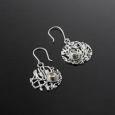 Tangle Lattice Gemstone Earrings by Janet Blake (Silver & Stone Earrings)
