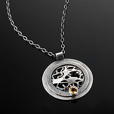 Tangle Orb Gemstone Necklace by Janet Blake (Silver & Stone Necklace)