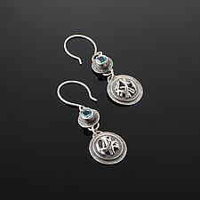 Tangle Orb Gemstone Earrings by Janet Blake (Silver & Stone Earrings)
