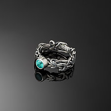 Tangle Halo Gemstone Ring by Janet Blake (Silver & Stone Ring)