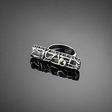 Tangle Gemstone Bar Ring by Janet Blake (Silver & Stone Ring)