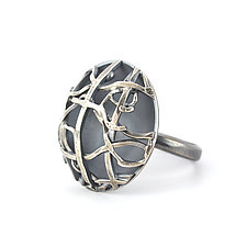 Tangle Silver Dome Ring by Janet Blake (Silver Ring)