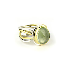 Prehnite Calm & Chaos Ring by Janet Blake (Gold, Silver & Stone Ring)