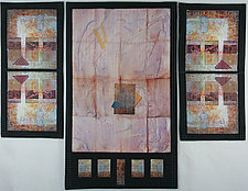 Trilogy III by Peggy Brown (Fiber Wall Hanging)