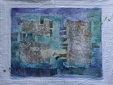 December Blue by Peggy Brown (Fiber Wall Hanging)