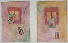 Autumn I & II by Peggy Brown (Fiber Wall Hanging)