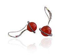 Journey Earrings by Veronica Eckert (Gold & Stone Earrings)