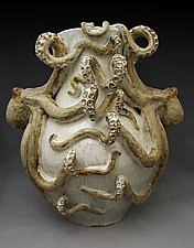 Double Octopus Vase by Shayne Greco (Ceramic Vase)