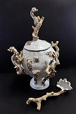 Seahorse Soup Tureen by Shayne Greco (Ceramic Bowl)