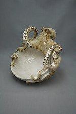 Large Octopus Bowl by Shayne Greco (Ceramic Bowl)