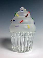 Cupcake Keepsake Box Trio by Sage Churchill-Foster (Art Glass Boxes)