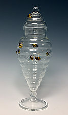 Beehive Apothecary Jar by Sage Churchill-Foster (Art Glass Bottle)