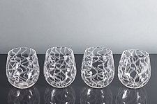 Nastri Laceware Wine Glass by Tyler Kimball (Art Glass Drinkware)