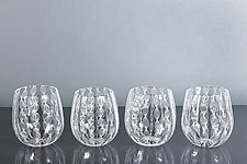 Ballontini Laceware Wine Glass by Tyler Kimball (Art Glass Drinkware)