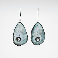 Caldera Earring by Lisa LeMair (Enameled Earrings)
