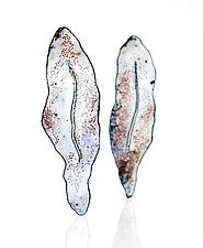 Fissure Earring by Lisa LeMair (Enameled Earrings)