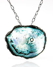 Small Caldera Neckpiece by Lisa LeMair (Enameled Necklace)