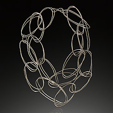 Large Double ByHand Necklace by Lisa LeMair (Silver Necklace)