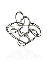 Extra Large Multi ByHand Pin by Lisa LeMair (Silver Brooch)