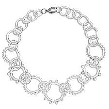 Wheel Chain Necklace by Roxann Slate (Art Glass Necklace)