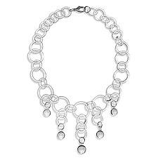 Ball Drop Chain Necklace by Roxann Slate (Art Glass Necklace)