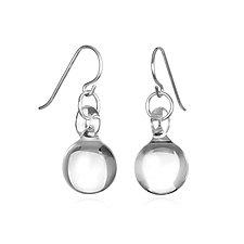 Ball Drop Earrings by Roxann Slate (Art Glass Earrings)